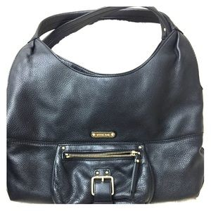 Black leather Michael Kors handbag